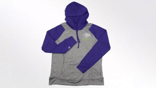 Gray and Purple Echo Hoodie