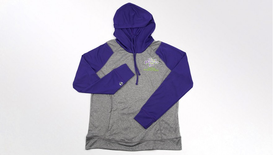 Gray and Purple Echo Hoodie