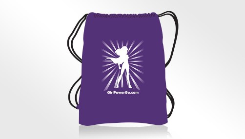 Girl Power Go Adventure Cotton Drawstring Backpack