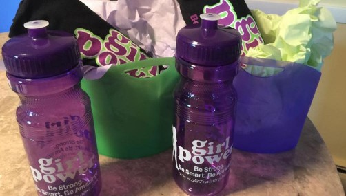 Girl Power Go 22oz Water Bottle